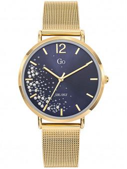 Montre dorée femme Go milanais Bleu nuit 695355