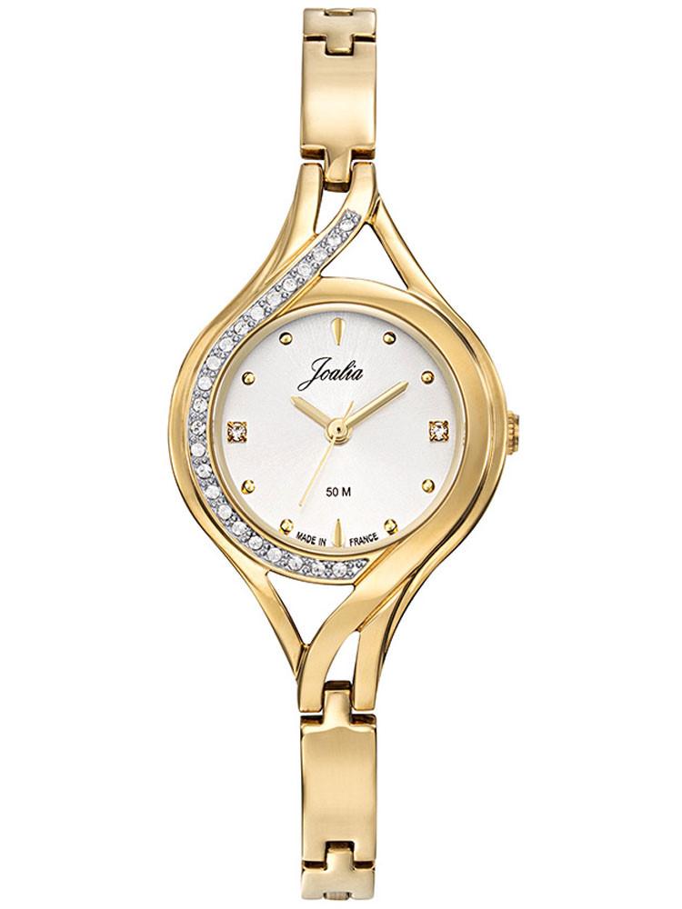 Montre Joalia femme elegante or jaune et strass 630665