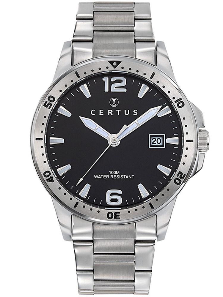 Montre Certus homme acier gris argent 616458