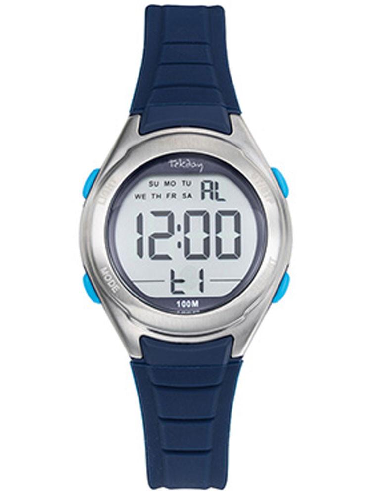 Montre digitale Tekday sport bleue 654714