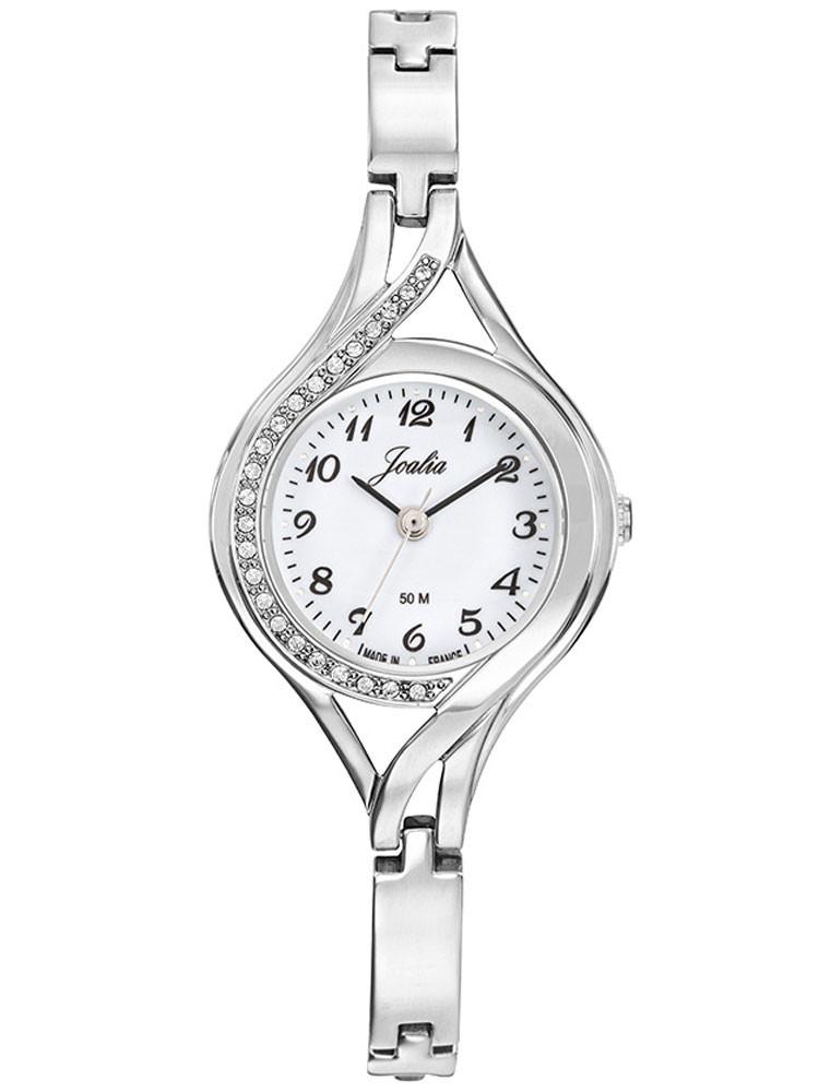 Petite montre femme argentée en acier, marque Joalia, 633450