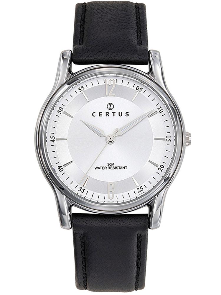 Jolie montre élégante, pour homme, de la marque Certus. Admirez son joli cadran blanc nuancé. Code article : 610604