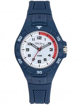 Tekday présente cette montre pour ado en silicone bleu foncé, étanche à 100 mètres. Code article : 654708