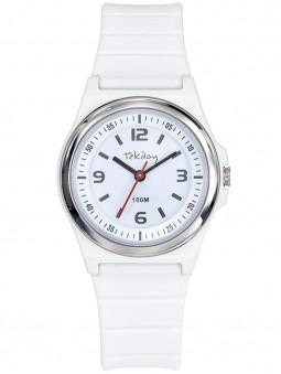 Tekday vous propose cette petite montre blanche en silicone, à l'allure très sport. Etanche à 100 mètres. Code article : 654709