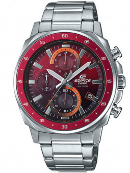 Casio vous propose une montre Edifice flamboyante, très originale avec son cadran rouge dégradé EFV-600D-4AVUEF