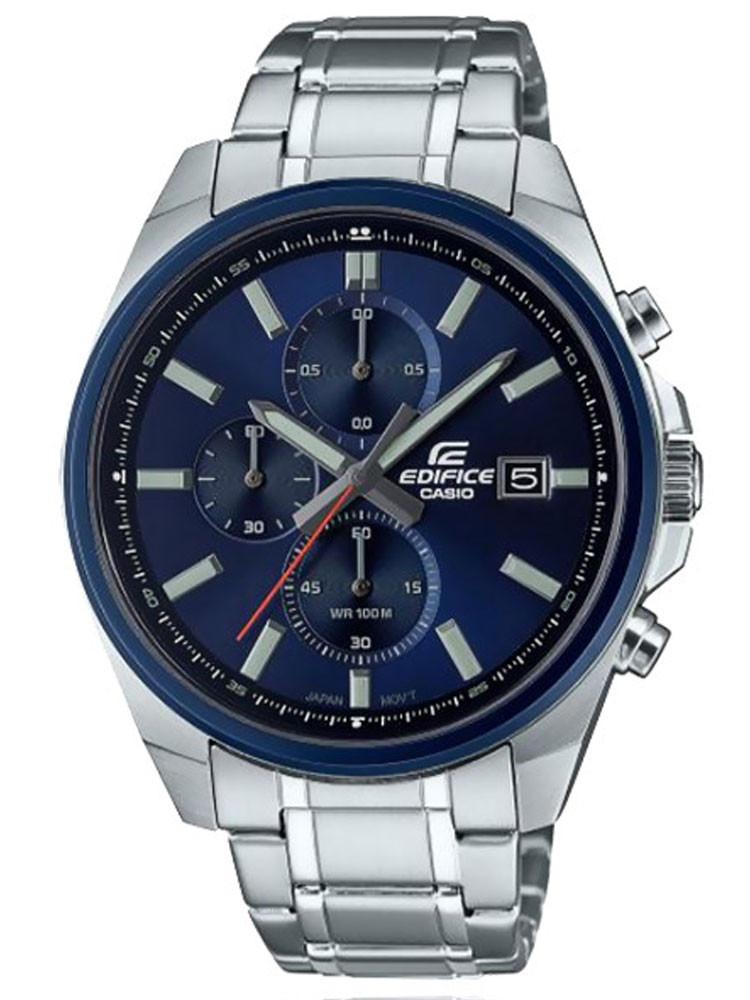 Casio Edifice propose ce modèle de chronographe homme, tout en acier. Code article : EFV-610DB-2AVUEF