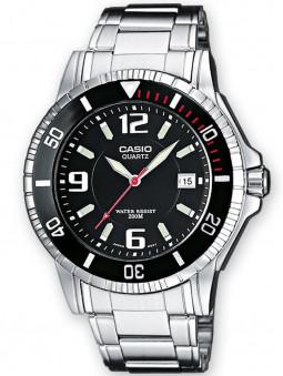 Vue de 3/4 de la montre Casio étanche 200 mètres MTD-1053D-1AVES