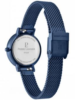 Vue arrière de la montre bleue Pierre Lannier 015J966