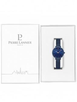 Montre bleue Pierre Lannier 015J966 dans son écrin