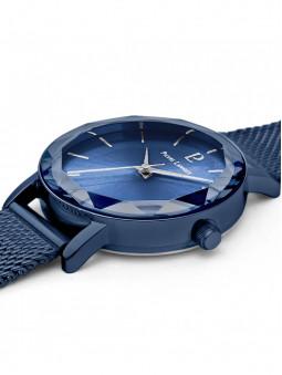 Montre femme bleue Pierre Lannier 010P968 vue de 3/4