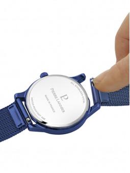 Attache rapide du bracelet de la montre femme bleue Pierre Lannier 010P968