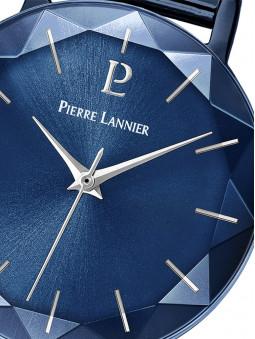 Zoom sur le cadran de de la montre femme bleue Pierre Lannier 010P968