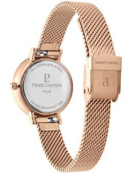 Montre femme Pierre Lannier bracelet milanais rose fond nacré 014J928 de dos