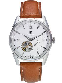 Vue de face de la montre homme LIP HIMALAYA coeur battant automatique 671558