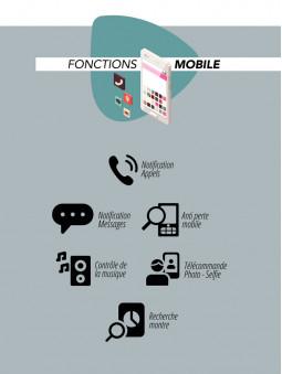 Fonctions mobile de la montre connectée noire Lifestyle Smarty 2.0 SW007D