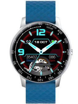 Montre connectée bleue Smarty 2.0 SW008C vue de face