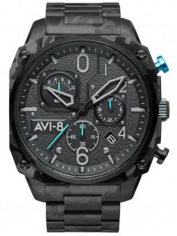Montre aviateur Avi-8 Night Camo chronographe acier AV-4052-11, camouflage militaire