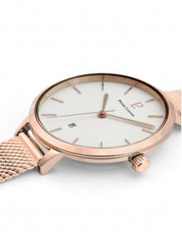Boîtier de montre rond, fin, en acier, diamètre 34mm, montre Pierre Lannier Echo 032K908
