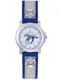 Montre junior, enfant, bleue, illustration d'un cheval dans son cadran, marque Certus 647488