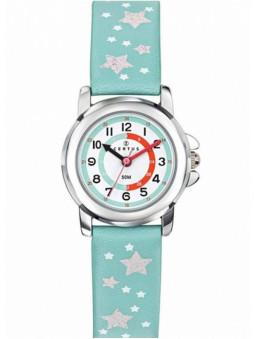 montre junior, montre fille, marque Certus, montre Certus, coloris vert eau, référence article : 647650