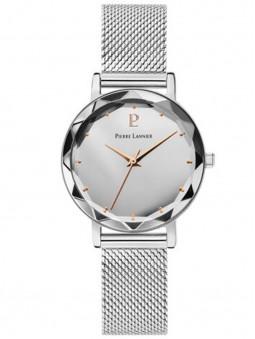 Montre en acier, montre argentée, montre femme, montre pierre lannier 024K628
