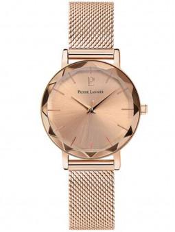 Montre femme dorée rose, montre bracelet milanais en acier, montre femme Pierre Lannier 010P958