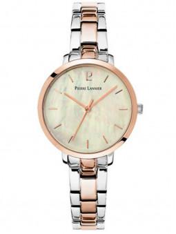 Montre acier femme Pierre Lannier bicolore rose doré gris argenté 055M791