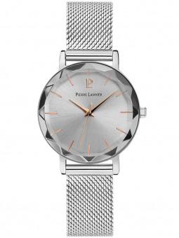 Montre femme Pierre Lannier bracelet milanais en acier gris argenté 009M628
