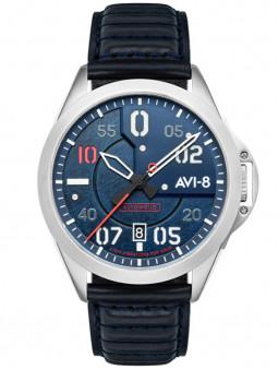 Montre homme bracelet cuir aviateur Avi-8 Tommy Hitchcock Automatic AV-4086-02
