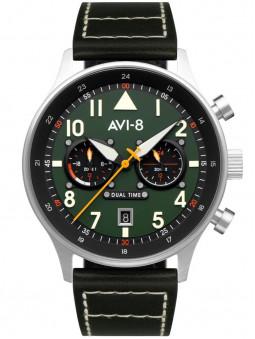 Montre homme bracelet cuir kaki style aviateur Avi-8 AV-4088-02