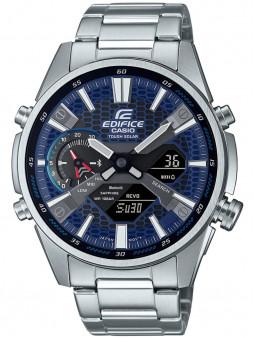 Montre Casio Edifice, montre homme, montre Bluetooth, bracelet en acier, référence ECB-S100D-2AEF
