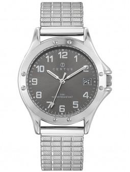 montre homme certus, montre homme en acier, montre certus 615605 avec un bracelet extensible