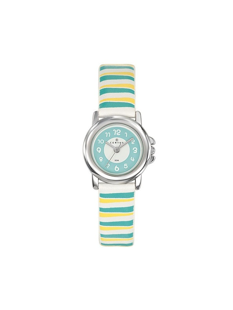 Montre enfant Certus rayée jaune bleu vert 647564