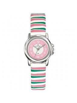 Montre enfant Certus rayée rose et vert 647565