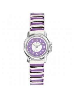 Montre enfant Certus rayée violet 647566