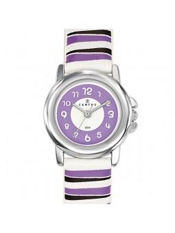Montre enfant Certus rayée violet