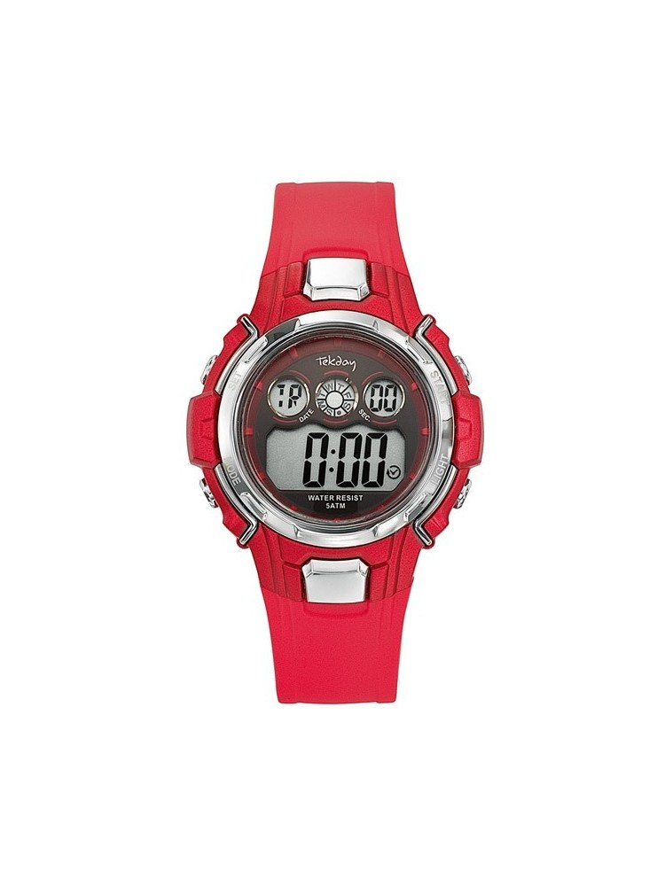 Montre enfant Tekday digitale rouge 653797