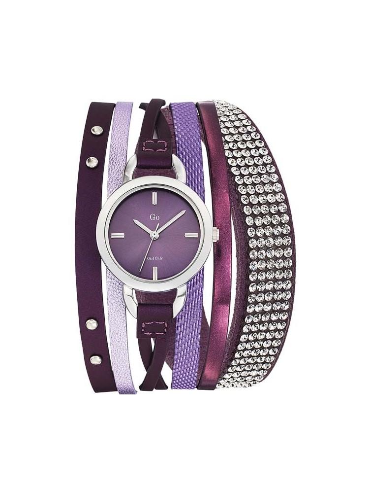 Montre femme Go violette multi-lanières Série limitée