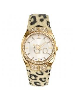 Montre femme Go léopard beige strass 698477