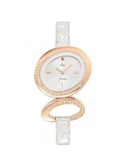 Montre femme Go blanche Or rose