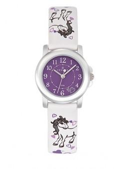 Montre Fille - cheval et coeur violet - Certus 647527