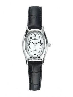 Montre Femme - boitier oval et cuir noir - Certus 644368