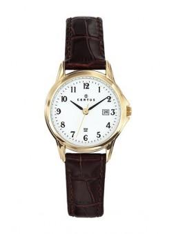 Montre Homme dorée bracelet cuir - Certus 646571