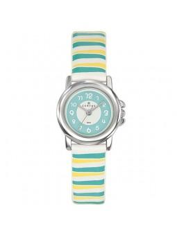 Bracelet de montre Certus jaune bleu et vert