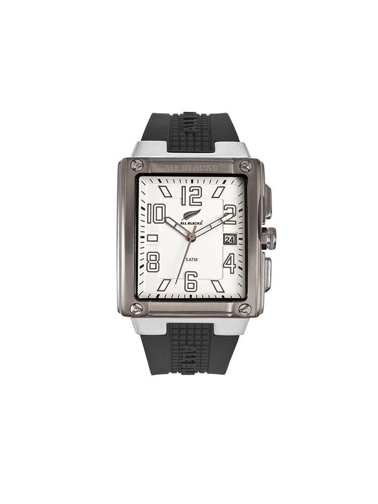Montre rectangulaire bracelet silicone - ALL BLACKS 680068
