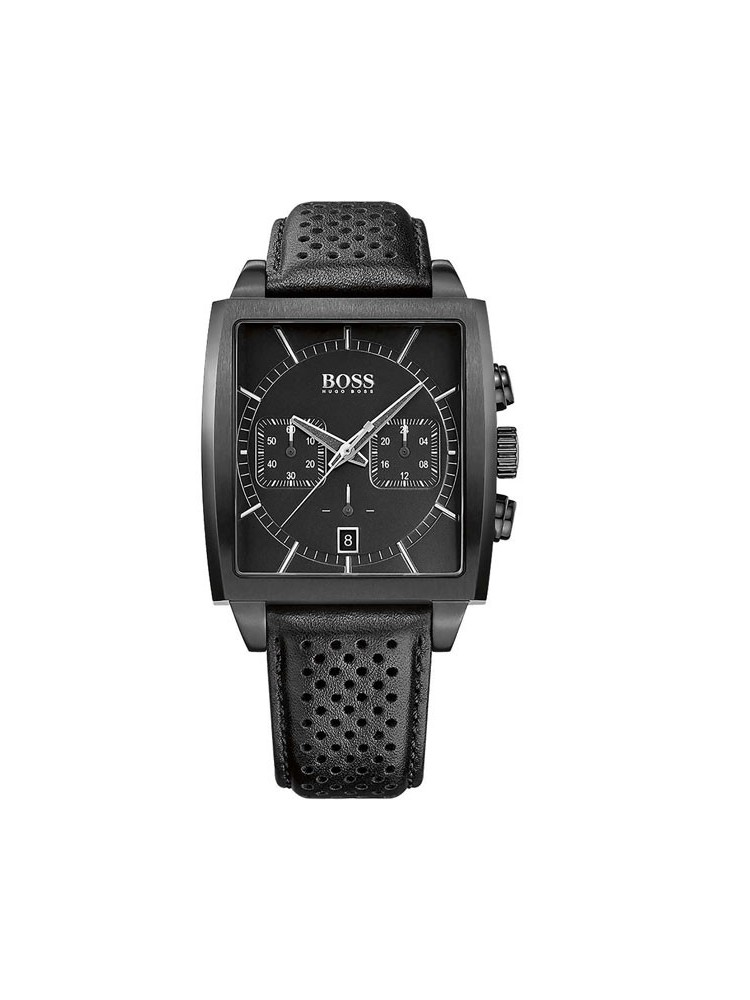 48bf31990b Montre homme Hugo Boss carré total black