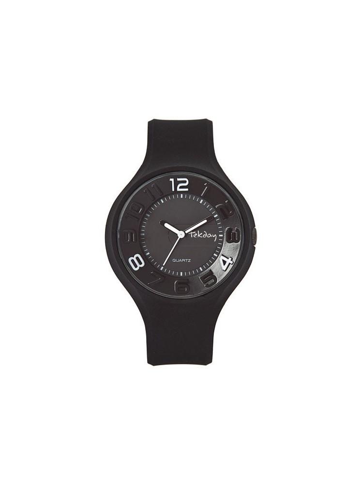 Montre design noire - Tekday 653674