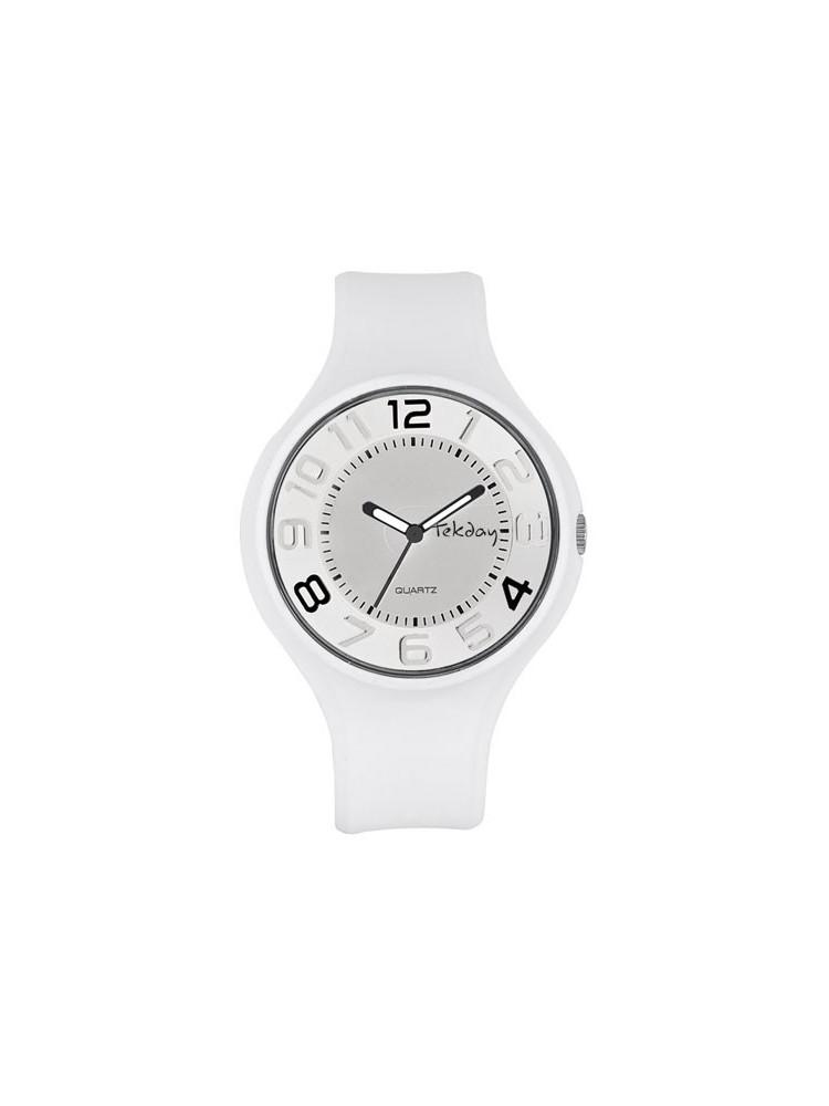 Montre design blanche - Tekday 653676