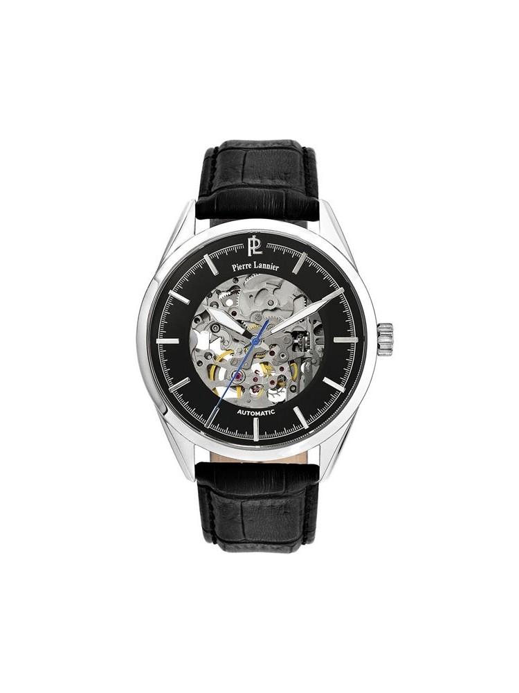 Montre homme Pierre Lannier automatique bracelet cuir 52918f2f7fef