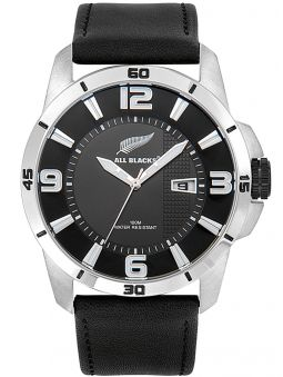 Montre homme All Blacks cuir noir
